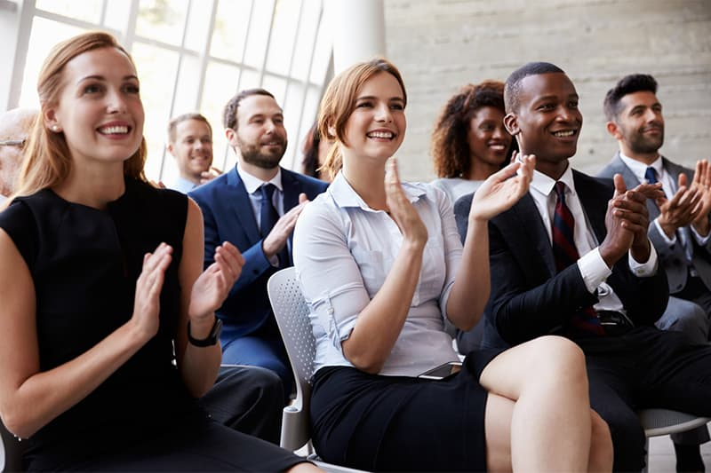 audience applause at business conference